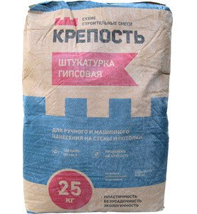 СТРОЙТЕ С НАМИ Штукатурка гипсовая Крепость, 25 кг - фото 1