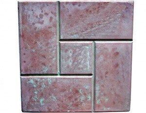 СТРОЙТЕ С НАМИ Тротуарная плитка Калифорния (300*300*30мм) красная - фото 1