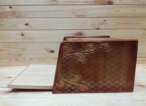 Fabrika Masterov Хлебница деревянная из кедра резная - фото 5