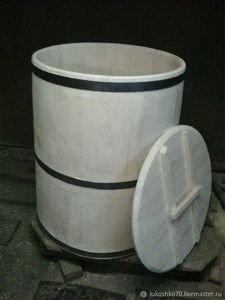 Fabrika Masterov Бочка деревянная 200 литров для воды. Кадка из кедра - фото 2