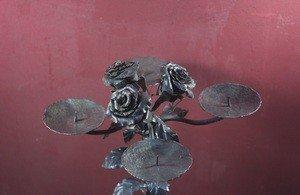 Fabrika Masterov Подсвечник кованый с розами - фото 2