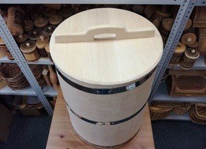 Fabrika Masterov Кадка Бочка деревянная 100 литров. Бочка для воды бани - фото 3