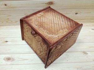 Fabrika Masterov Хлебница деревянная из кедра резная - фото 6