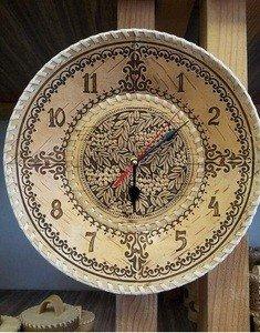 Fabrika Masterov Часы из бересты настенные большие. Часы для дома. - фото 1