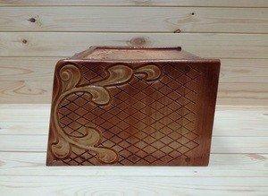 Fabrika Masterov Хлебница деревянная из кедра резная - фото 4