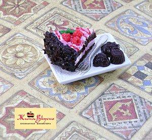"Fabrika Masterov Магнит ""Торт с шоколадными конфетами"" - фото 3"
