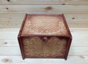 Fabrika Masterov Хлебница деревянная из кедра резная - фото 2