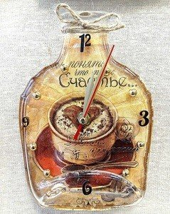 """Fabrika Masterov Часы-бутылка """"Счастье"""" - фото 1"""