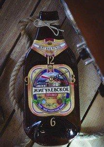 """Fabrika Masterov Бутылка-часы """"Жигулевское пиво"""" - фото 1"""