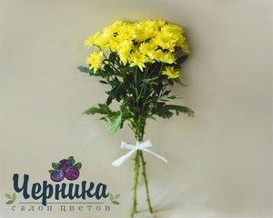 Магазин цветов Черника Монобукет из кустовых хризантем - фото 1