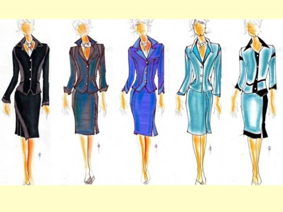 Дизайн женского костюма